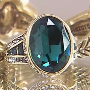 Heidi Daus BOLD MOVE Montana Blue Color Ring